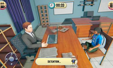 虚拟高学校女孩游戏学校模拟