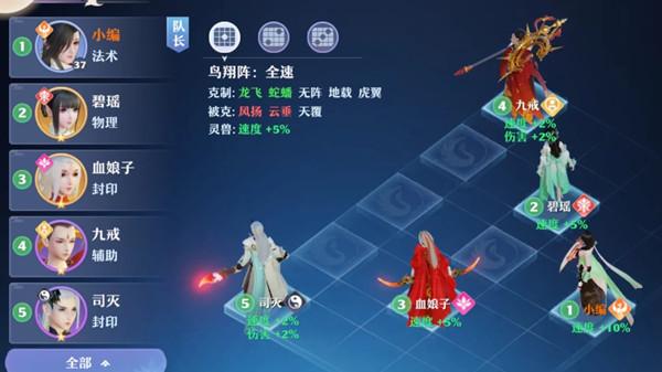 梦幻新诛仙阵法攻略